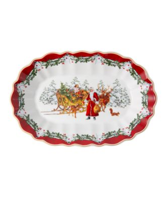 Toys Fantasy Large Oval Bowl, Santa with sleigh