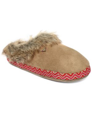 Roxy Amaretti Ii Faux-Fur Slippers Womens Shoes