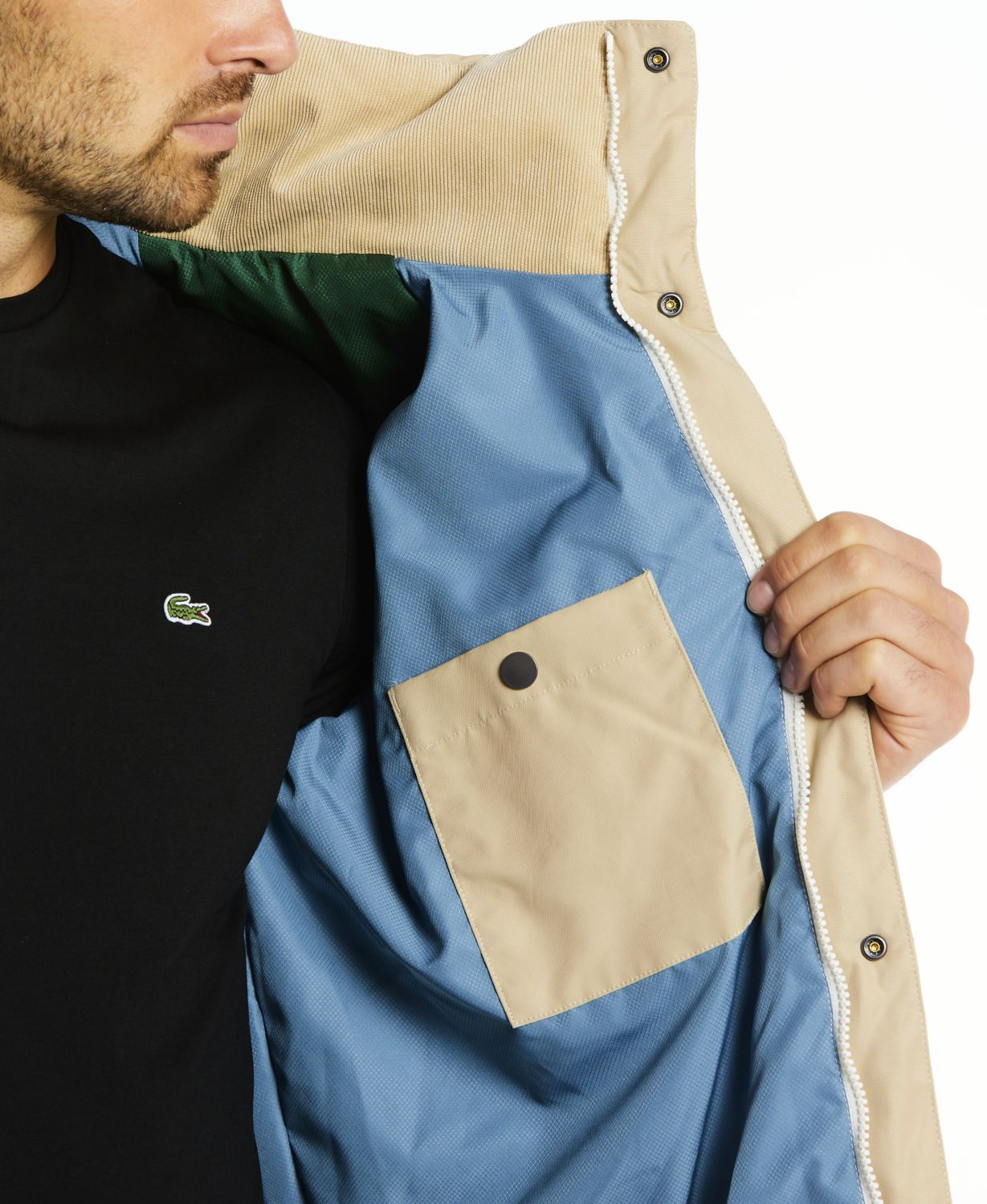 Lacoste Men's LIVE Canvas and Corduroy Padded Jacket & Reviews - Coats & Jackets - Men - Macy's
