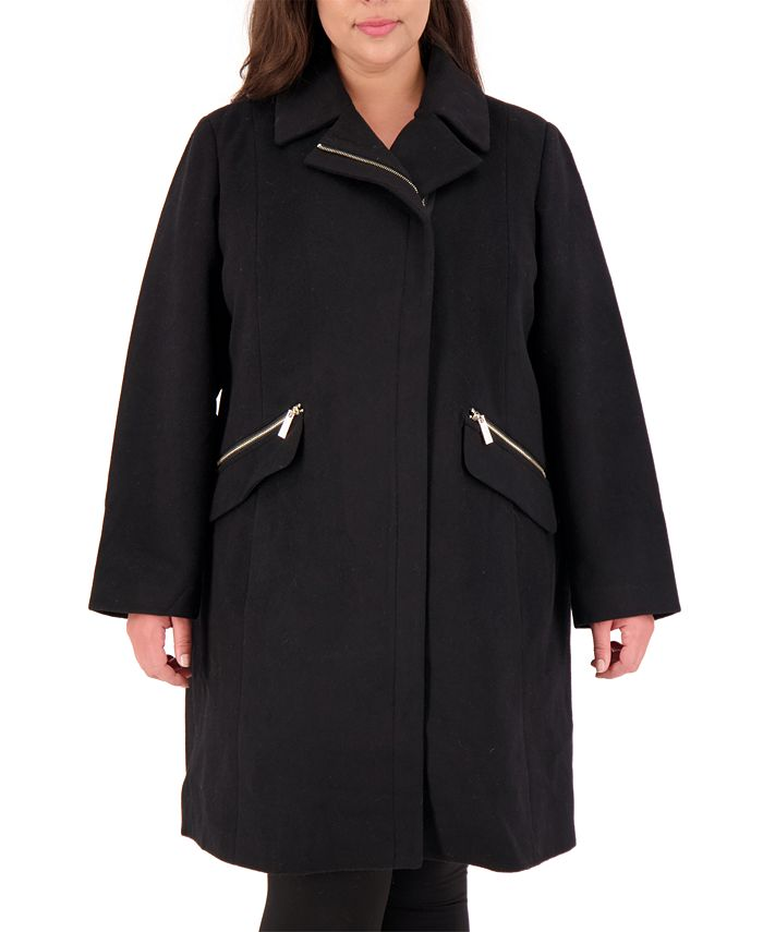 Vince Camuto - Plus Size Asymmetrical Coat