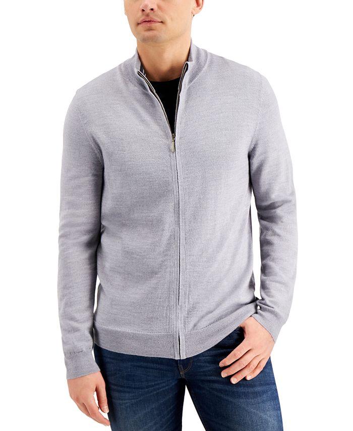 Club Room - Men's Merino Zip-Front Sweater