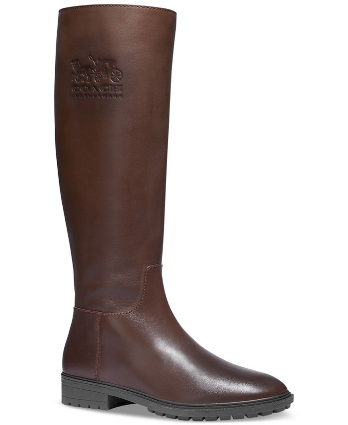 COACH - Women's Fynn Wide-Calf Riding Boots