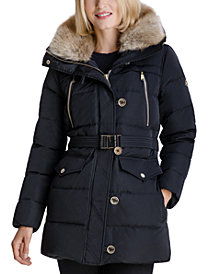 MICHAEL Michael Kors Faux-Fur-Collar Down Puffer Coat, Created for Macy's