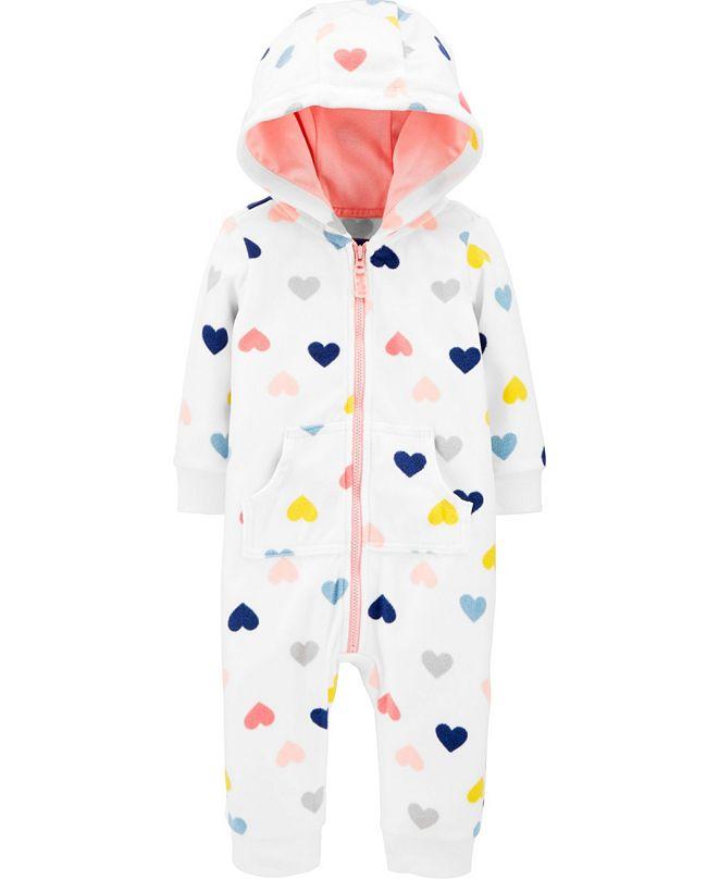 Carter's Baby Girl  Heart Fleece Jumpsuit