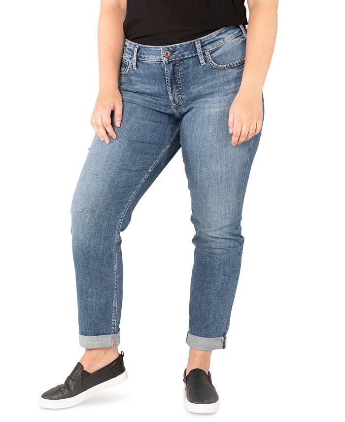 Silver Jeans Co. - Trendy Plus Size Boyfriend Jeans