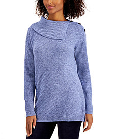 Style & Co Plus Size Envelope-Neck Tunic Sweater, Created for Macy's