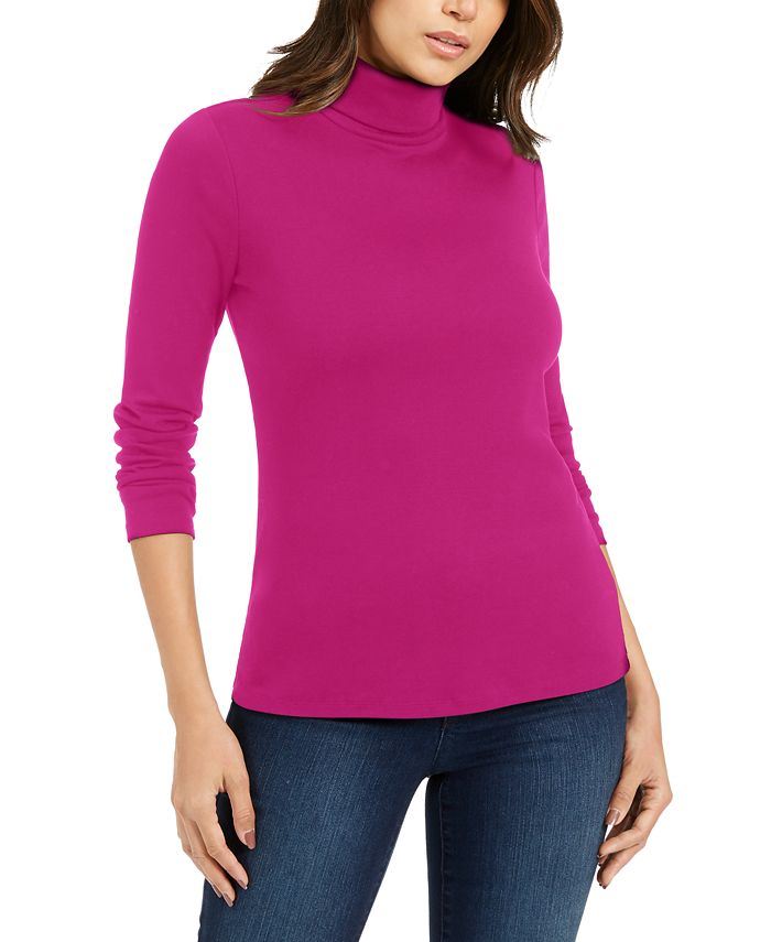 Charter Club - Pima Turtleneck Top