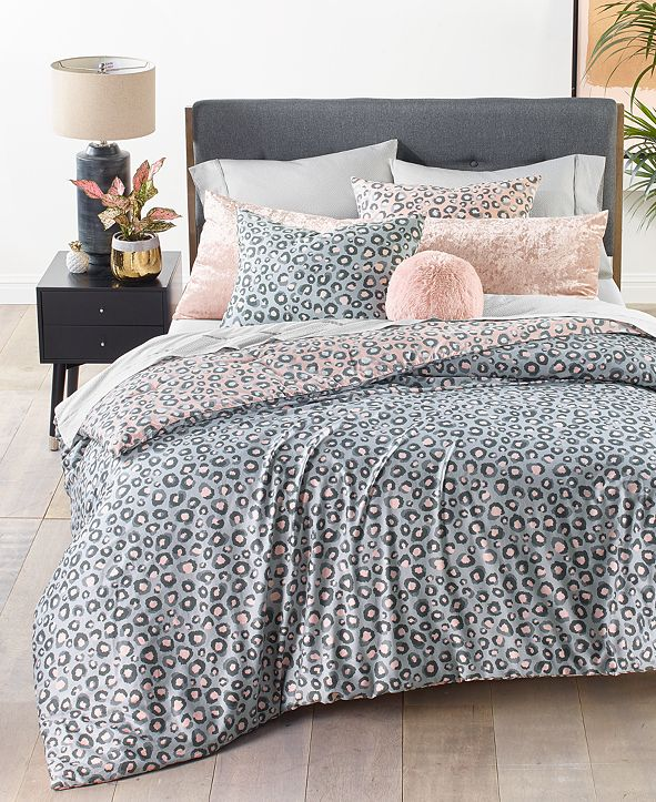 Martha Stewart Collection Reversible Cheetah-Print Bedding Collection, Created for Macy's