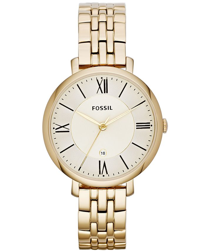 Fossil - Jacqueline Gold-Tone Stainless Steel Watch 36mm