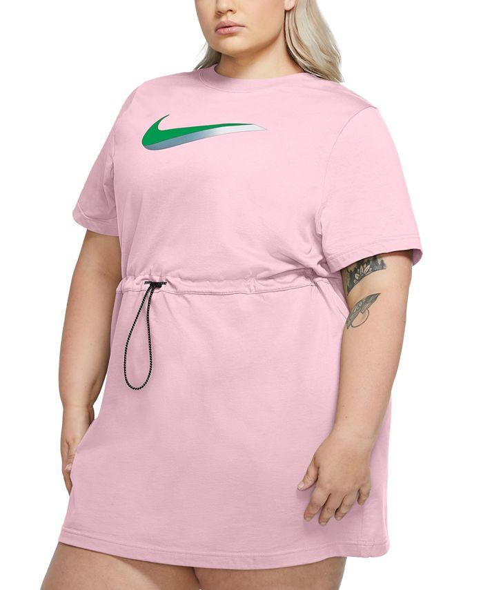 Nike - Plus Size Drawstring-Waist Logo Dress