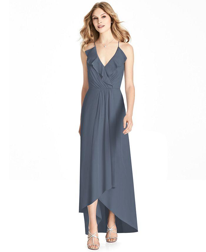 Jenny Packham - Ruffled Chiffon High-Low Gown