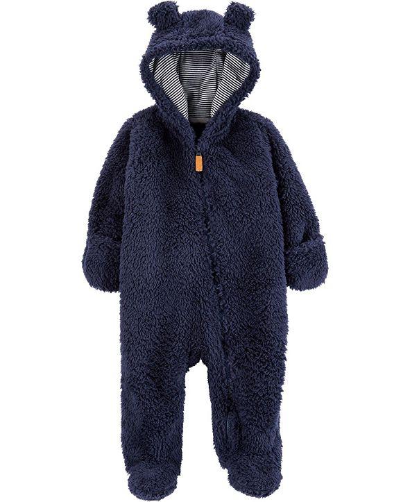 Carter's Baby Boy  Hooded Sherpa Pram
