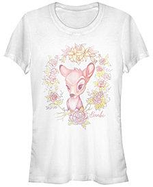 Fifth Sun Women's Bambi Watercolor Floral Short Sleeve T-shirt