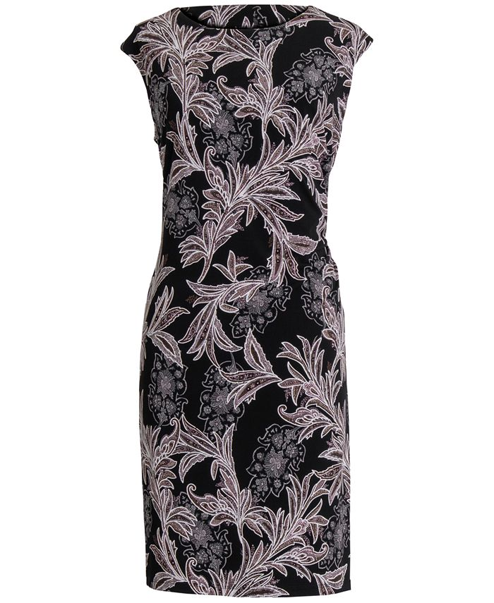 Connected - Plus Size Printed Sheath Dress