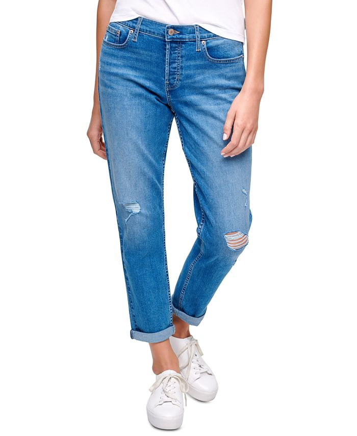Calvin Klein Jeans - Ripped Cuffed Jeans