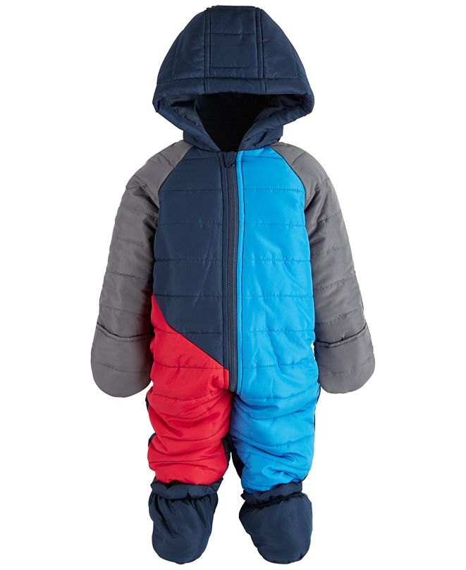 First Impressions Baby Boys Colorblock Snowsuit, Created for Macy's