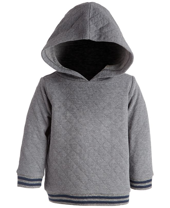 First Impressions Baby Boys Herringbone Quilted Hoodie, Created for Macy's