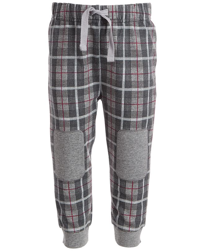 First Impressions Baby Boys Menswear Plaid Jogger, Created for Macy's