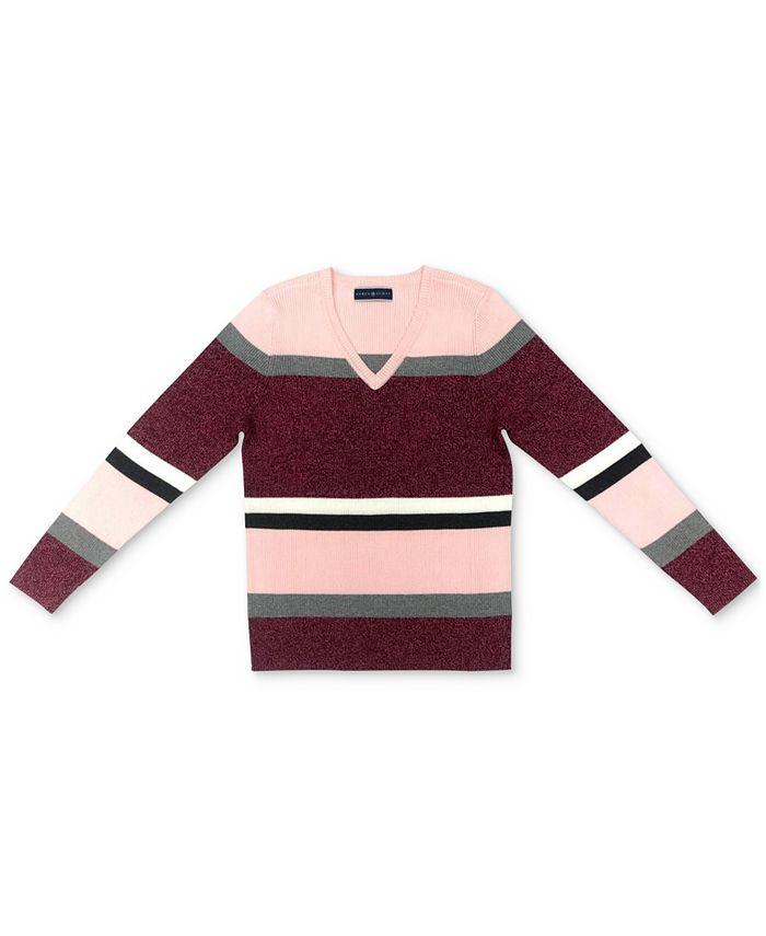 Karen Scott - Cotton Striped Sweater