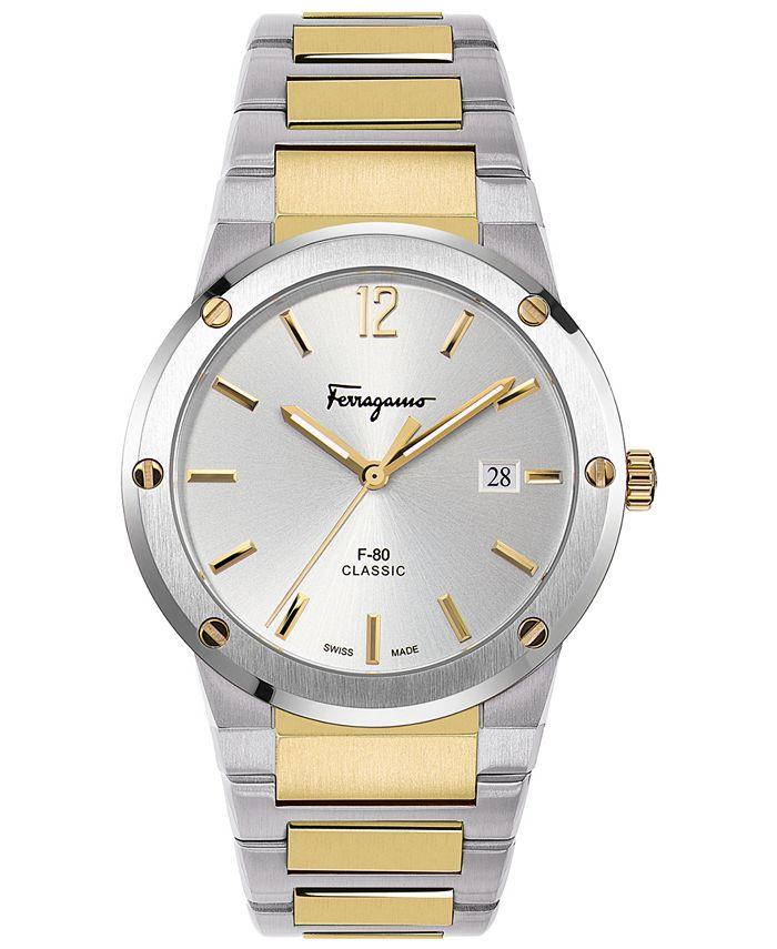 Ferragamo - Men's Swiss F-80 Classic Two-Tone Stainless Steel Bracelet Watch 41mm