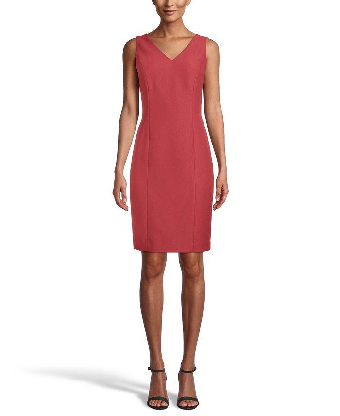 Anne Klein - V-Neck Sheath Dress