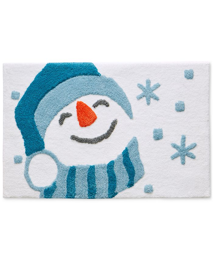 "Martha Stewart Collection - Snowman 20"" x 30"" Bath Rug"