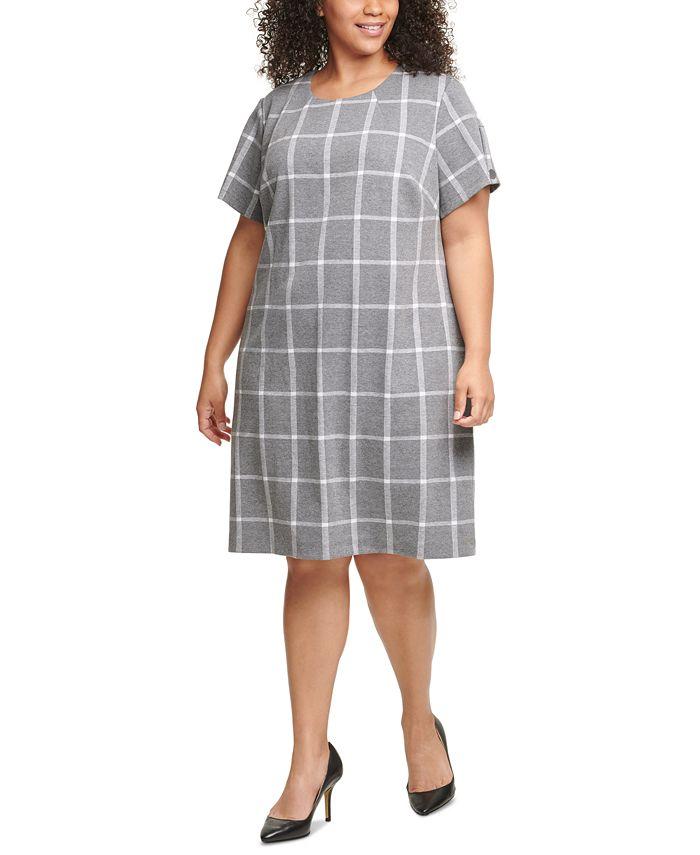 Tommy Hilfiger - Plus Size Plaid Shift Dress