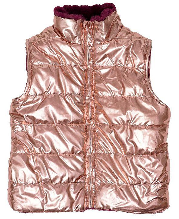 Epic Threads Little Girls Full Zip Reversible Vest
