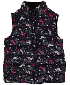 Epic Threads Big Girls All Over Print Shiny Reversible Vest