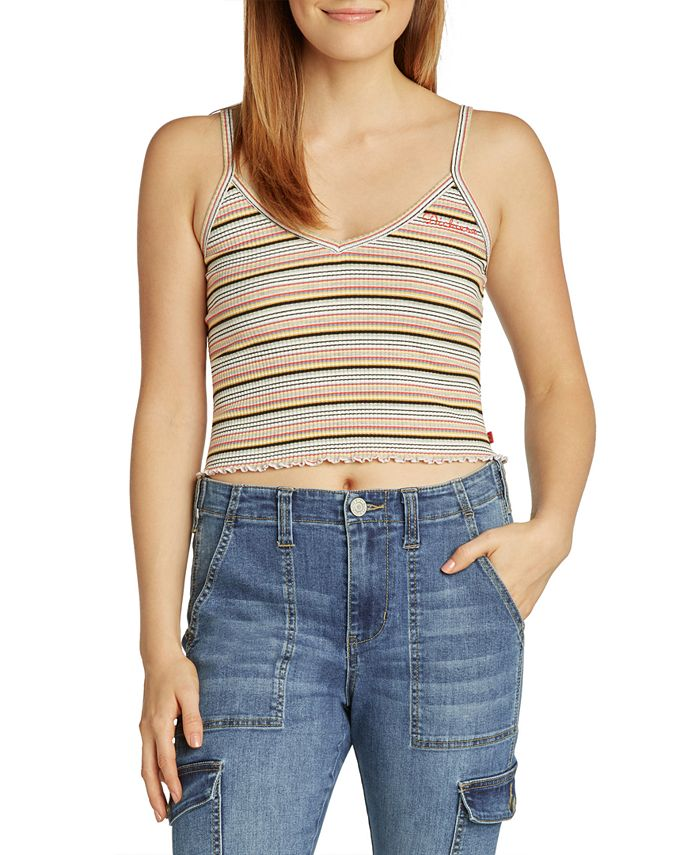 Dickies - Cropped Striped Tank Top