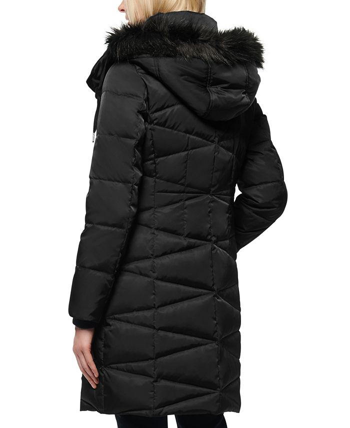 Marc New York - Faux-Fur-Trim Hooded Down Puffer Coat