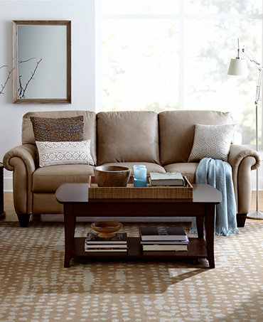 Arianna Leather Sofa Living Room Furniture Collection Furniture Macy 39 S