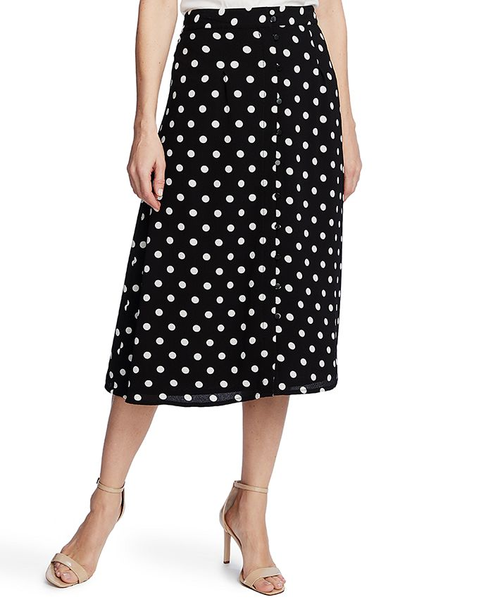 CeCe - Disco Dot-Print Midi Skirt