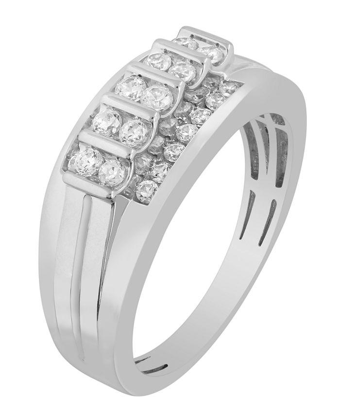 Macy's - Men's Diamond (1/2 ct. t.w.) Ring in 10K White or Yellow Gold