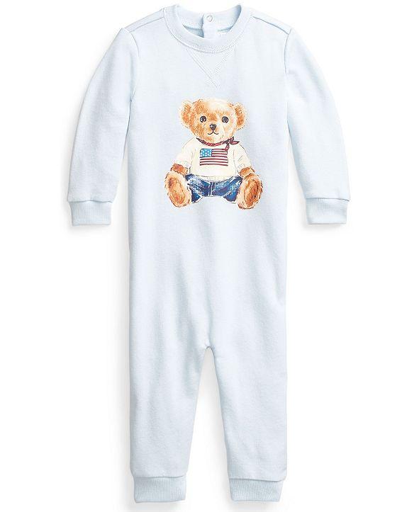 Polo Ralph Lauren Ralph Lauren Baby Flag Bear Terry Coverall