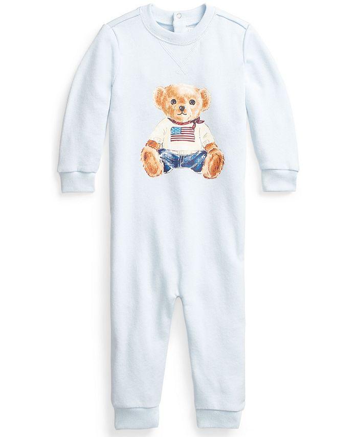 Polo Ralph Lauren - Baby Boys Flag Bear Terry Coverall