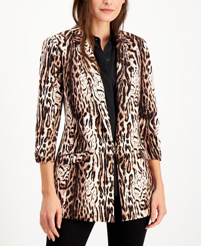 INC International Concepts - Animal-Print Jacket