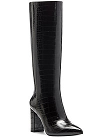 INC Paiton Block-Heel Boots, Created for Macy's