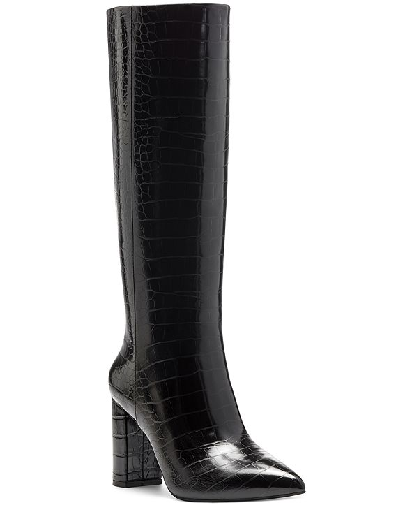 INC International Concepts INC Paiton Block-Heel Boots, Created for Macy's