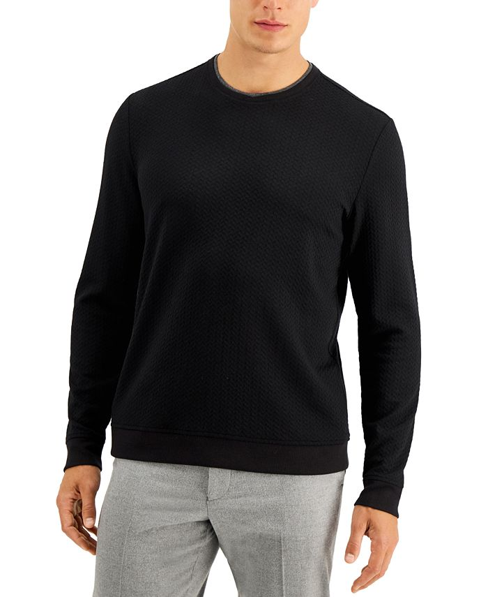 Tasso Elba - Men's Crossover Textured Sweater