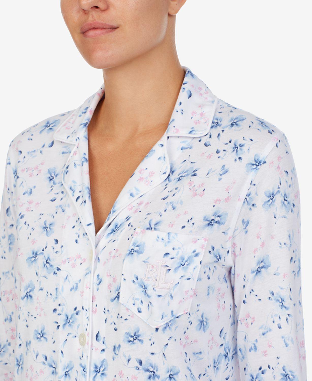 Lauren Ralph Lauren Floral-Print Knit Sleep Shirt & Reviews - Bras, Panties & Lingerie - Women - Macy's