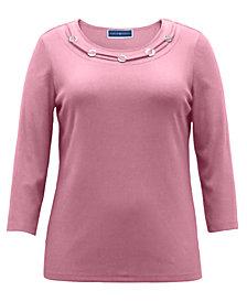 Karen Scott Cotton O-Ring Top, Created for Macy's
