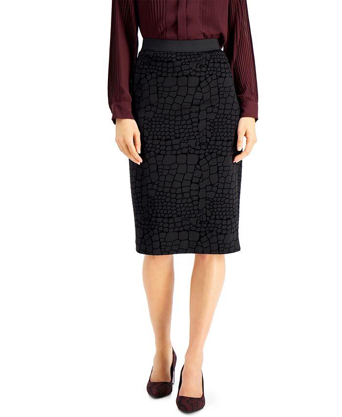 Alfani - Animal-Print Pencil Skirt
