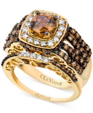 Le Vian Bridal Set, Chocolate and White Diamond Engagement Ring Set (2-5/8 ct. t.w.) in 14k Gold