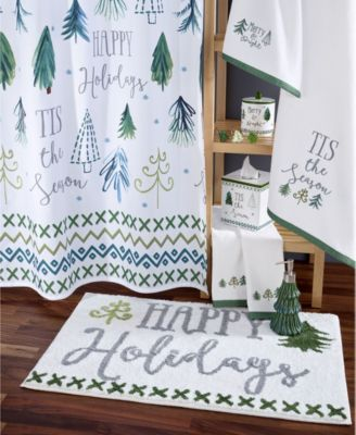 Christmas Trees Bath Towel