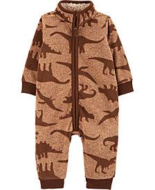 Carter's Baby Boy Dinosaur Fleece Jumpsuit