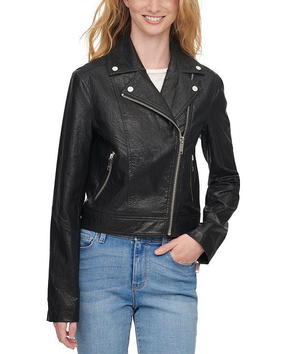 DKNY Cropped Moto Jacket