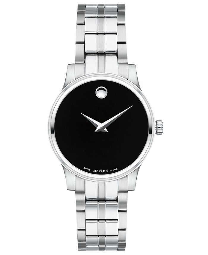 Movado - Women's Swiss Stainless Steel Bracelet Watch 28mm