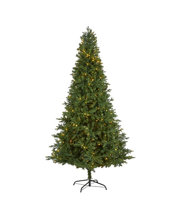 Nearly Natural Vermont Fir Artificial Christmas Tree with 450 Clear LED Lights