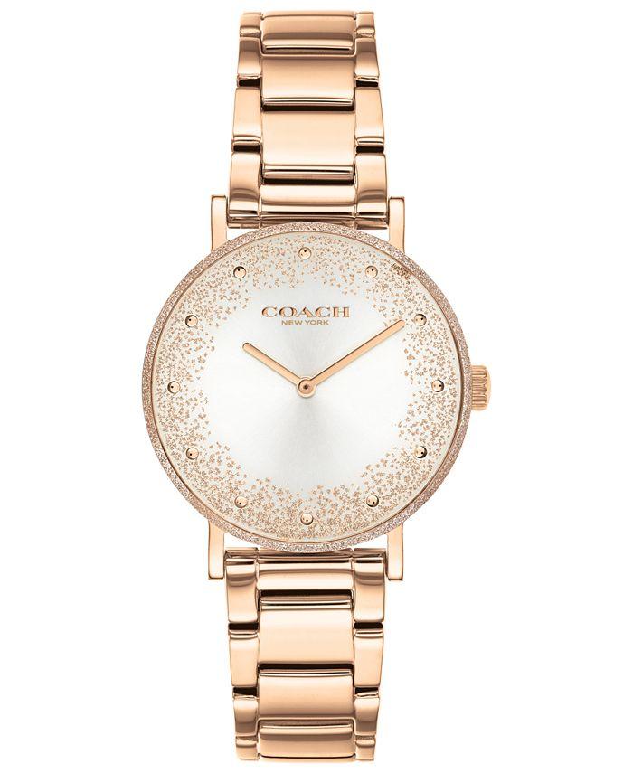 COACH - Women's Perry Rose Gold-Tone Bracelet Watch 28mm